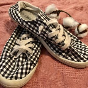 Gingham Canvas Shoes